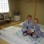 Nice rooms with traditional mattresses on floor and Japanese robes!