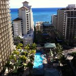 Grand Lanai & pool from 1907 aloha Tower
