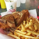 Fried Grouper Reuben and Fries