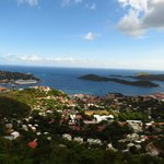 View of the bay in St Thomas USVI