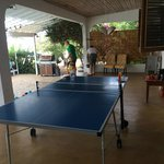 Villa had games and ping pong table!