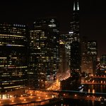 Night view of Chicago