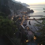 Room with a view. Early morning from the Amalfi Coast.