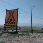 Interstate right next to tent sites Casper WY KOA