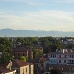 The view north to the mountains from Al Corso apartment