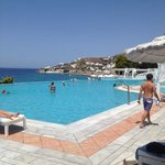 Outdoor Pool Area overlooking the Agean Sea