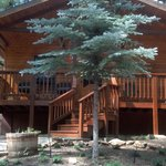 the front of our cabin