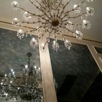 Chandelier going up to private floors