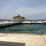View from private beach out onto private Jetty, great for tan topping and relaxing!