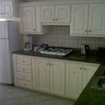 The kitchen area of the suite I stayed in
