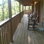 cozy deck & rocking chairs