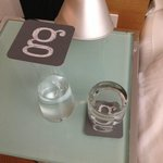 Carafe - they filled it and placed it bedside during turndown
