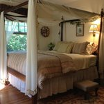 Comfortable canopy bed