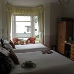 Our room (LARCH) in the Badgers Wood B&B, notice the nice bay window and  chairs