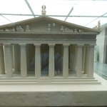 Model of western end of Parthenon