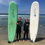 After surfing photo!