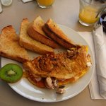Delicious Omelet and Toast