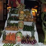 Beautiful fruit carvings at Samana