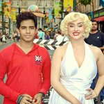 With Marlyn Monroe