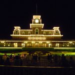 Magic Kingdom Entrance at Night
