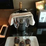 Champagne and chocolate dipped treats!