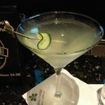 My fabulous Hendricks martini...
