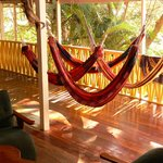 Balcony with hammocks to relax