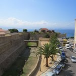 View over Citadel and sea, from 3d floor