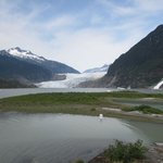 Mendenhall Glacier and Nugget Falls.