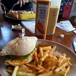 Extra Hot Peri Peri coated double Chicken Breast Burger with Spicy Fries