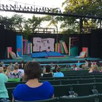 Muny stage, before the show, Seussical