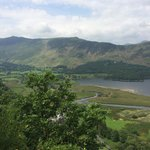 Ashness Farm.  View from the fell.