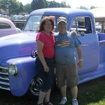 Cathy and I with the truck