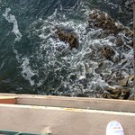 Looking down from our balcony; yes, that's my slipper :-)