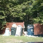 dumpster area. No wonder they have bear warning signs posted in the hotel