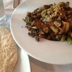 Brussels sprouts done similar to Caponata, with raisins. Very Turkish.