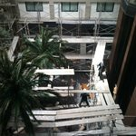 2nd picture, view from our room window, interior construction mess