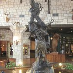 Bronze sculpture in lobby