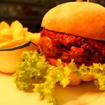 Venison Burger with TCD tomato relish
