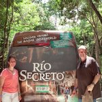 Pic of shuttle van that takes you to and from Rio Secreto.