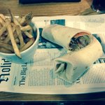 My duck wrap for lunch and fries , very tasty