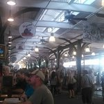 The inside of the French Market.