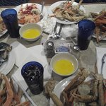 all you can eat crab legs..hot and cold optio.