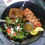 Grilled Salmon with Larrupin sauce