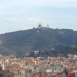 you can see tibidabo, looks like a castle!