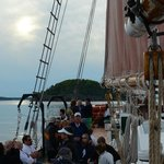 Harbor cruise on 4-masted schooner