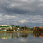 View of Pop Century from Art of Animation (across lake)