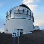 One of the observatories at the summit