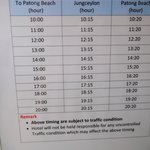 shuttle bus timing