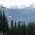 A chairlift up the mountain